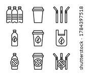 bio plastics with stop single... | Shutterstock .eps vector #1784397518