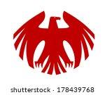 Fierce Red Eagle Heraldic...