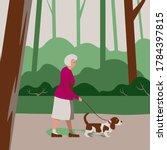 Elderly Old Woman Pensioner...