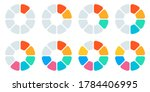 pie chart set. circle diagram...   Shutterstock . vector #1784406995