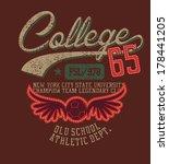 college sports football vector... | Shutterstock .eps vector #178441205