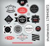 set of stickers  tags  frames ... | Shutterstock .eps vector #178443872