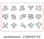 lead generation line icons set... | Shutterstock .eps vector #1784455715