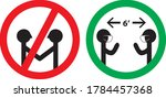maintain social distancing six... | Shutterstock .eps vector #1784457368