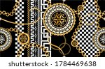 seamless pattern decorated with ...   Shutterstock .eps vector #1784469638