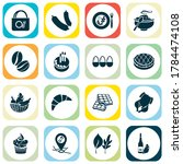 meal icons set with fruit... | Shutterstock .eps vector #1784474108