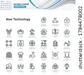 thin line icons set of new... | Shutterstock .eps vector #1784478002