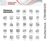 thin line icons set of distance ... | Shutterstock .eps vector #1784480105