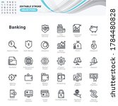 thin line icons set of banking. ... | Shutterstock .eps vector #1784480828
