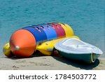 Colorful Stacking Kayaks And...