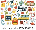 back to school element set.... | Shutterstock .eps vector #1784508128