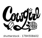 country girl handwritten... | Shutterstock .eps vector #1784508602