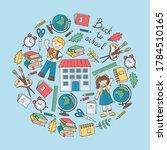 back to school  students  globe ...   Shutterstock .eps vector #1784510165