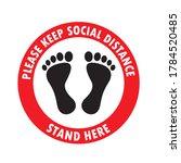 social distancing keep your...   Shutterstock .eps vector #1784520485
