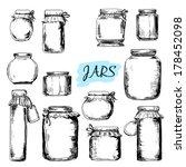 Jars. Set Of Hand Drawn Graphi...