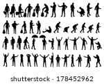 various man silhouettes vector... | Shutterstock .eps vector #178452962