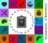 vector medical report icon...   Shutterstock .eps vector #1784555015