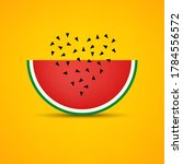 watermelon vector banner with... | Shutterstock .eps vector #1784556572