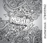 music sketchy notebook doodles. ... | Shutterstock .eps vector #178455962