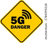 yellow warning sign dealing... | Shutterstock .eps vector #1784595218