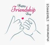 happy friendship day  friends...   Shutterstock .eps vector #1784599925