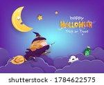 happy halloween  witch cartoon... | Shutterstock .eps vector #1784622575