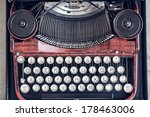 top view of a vintage typewriter | Shutterstock . vector #178463006