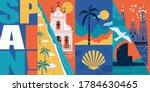 spain vector skyline...   Shutterstock .eps vector #1784630465