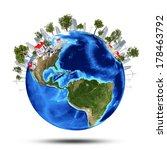 earth planet image with... | Shutterstock . vector #178463792