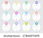 business infographic circle... | Shutterstock .eps vector #1784697695