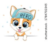animal illustration with cute...   Shutterstock .eps vector #1784702345