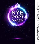 nye 2021 party poster on dark... | Shutterstock .eps vector #1784721128