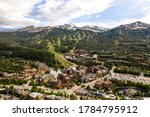 Aerial drone photo - Rugged Rocky Mountains of Breckenridge, Colorado.