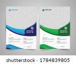 covid 19 flyer template design  ... | Shutterstock .eps vector #1784839805