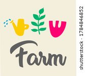 abstract farm or agro logo.... | Shutterstock .eps vector #1784846852