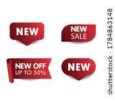 new tag ribbon and banner... | Shutterstock .eps vector #1784863148