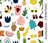 ontemporary seamless pattern... | Shutterstock .eps vector #1784870402
