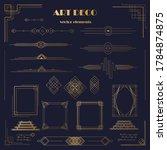 set of art deco elements ... | Shutterstock .eps vector #1784874875