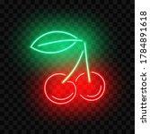 pair of cherries neon sign ... | Shutterstock .eps vector #1784891618
