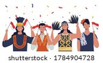 women with traditional clothes... | Shutterstock .eps vector #1784904728