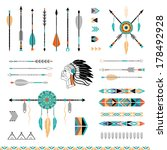 arrows  indian elements  aztec... | Shutterstock .eps vector #178492928