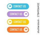 contact us button vector design ...   Shutterstock .eps vector #1784936432