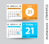 set of two vector calendars in...