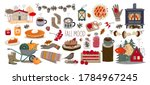 fall mood. set of vector autumn ... | Shutterstock .eps vector #1784967245