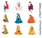 collection of people sitting...   Shutterstock .eps vector #1784975888