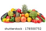 fruit and vegetable isolated on ... | Shutterstock . vector #178500752