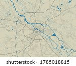 Vector Map Of Wroclaw. Street...