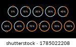 percentage pie chart set.... | Shutterstock . vector #1785022208