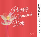 happy woman's day retro... | Shutterstock .eps vector #178506275