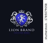 heraldry lion brand logo design | Shutterstock .eps vector #1785079058